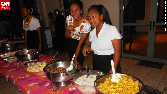This school event in Tonga is one of the many places to try 'Ota 'ika.