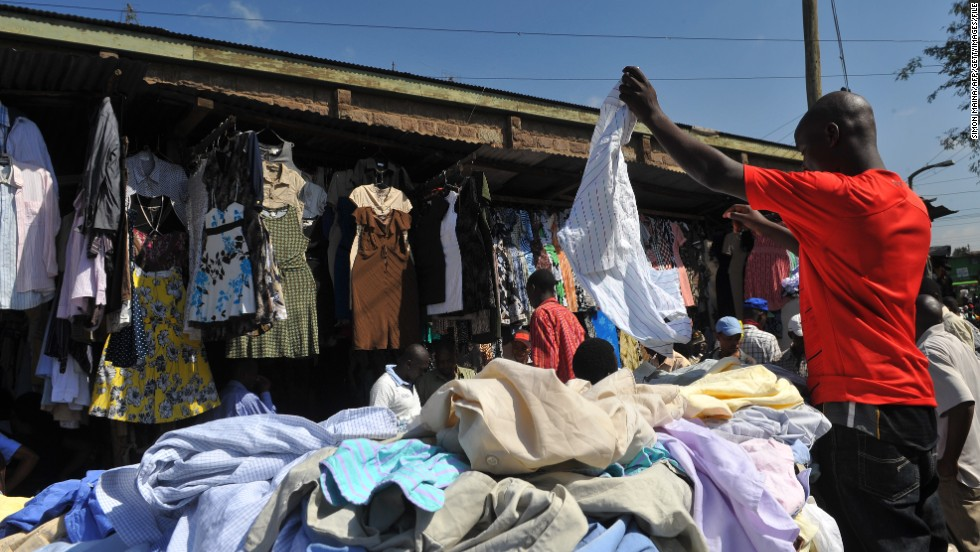 Several African countries, including South Africa and Nigeria, have banned imports of previously owned garments to protect national industries.
