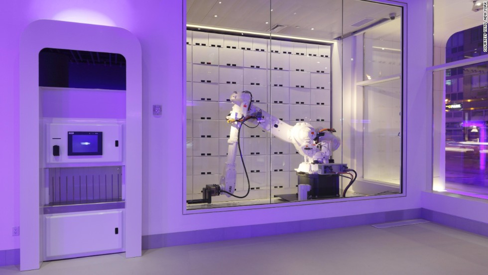 The new breed of wired lodging is no less a hotel than a Best Buy with blankets. The Yotel in Times Square is unapologetically futuristic. Guests check in at touch-screen kiosks similar to those found at airports. The hotel's tech de resistance is the world's first-ever robotic luggage handler.