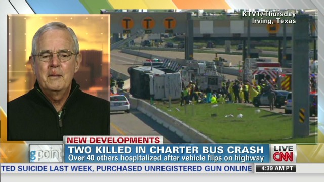 Survivor recounts Texas bus crash
