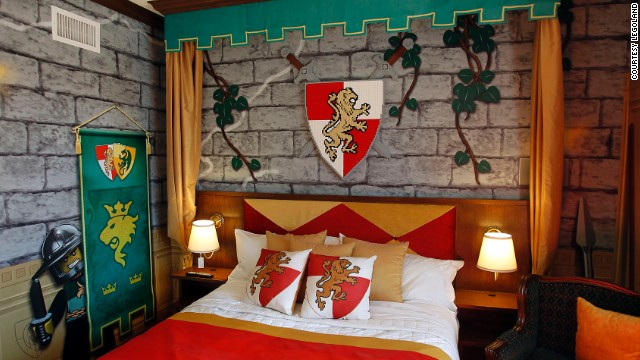 A Kingdom-themed room at the new Legoland hotel.