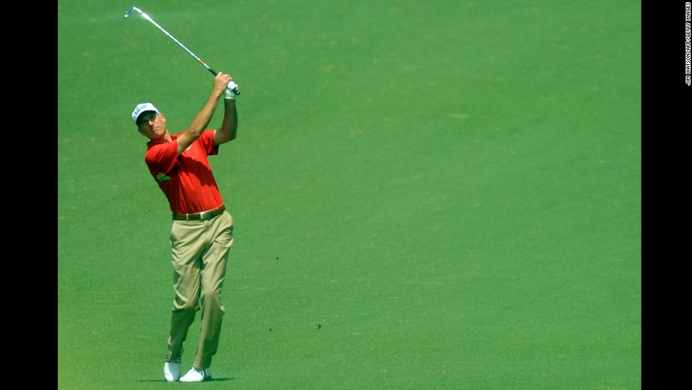 Jim Furyk of the U.S. plays during the second round.