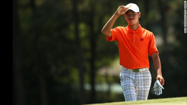 14 year old golfer makes Masters history