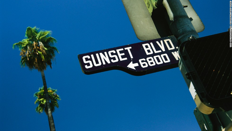 Drive down palm-lined Sunset Boulevard, a legendary Los Angeles thoroughfare immortalized in Billy Wilder's 1950 film of the same name.