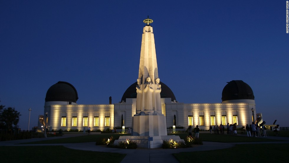 "For amazing city views go to Griffith Observatory. You can also take a look at the rest of the solar system at the planetarium, which was featured in the 1955 James Dean movie ""Rebel Without a Cause."""