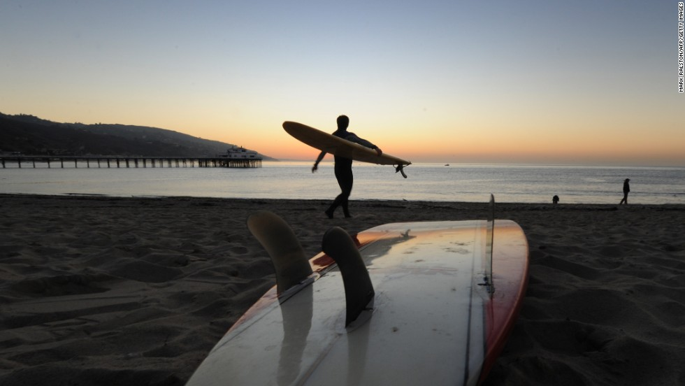 Head to Malibu for a sunset and a surf.