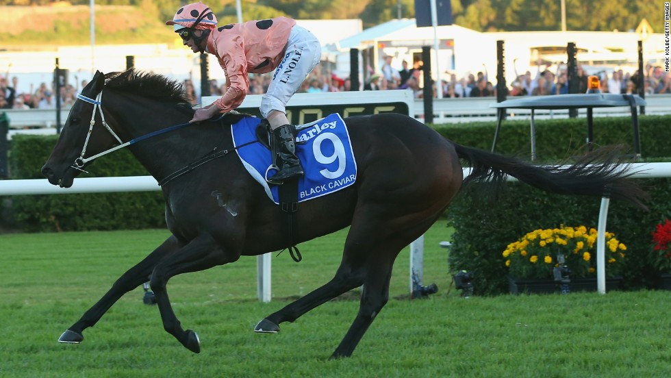 The world's top-rated race horse, worth almost $8 million in prize money, bowed out after claiming her 25th victory at Sydney's TJ Stakes Day on Saturday.