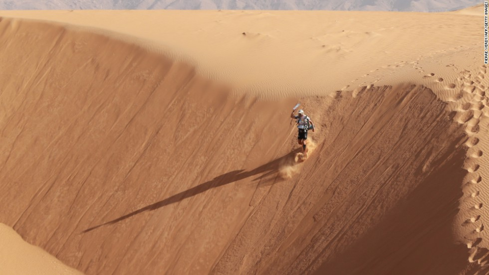 The MDS is a grueling multi-stage running event that covers more than 220 kilometers, and is held each year in the southern Moroccan Sahara.