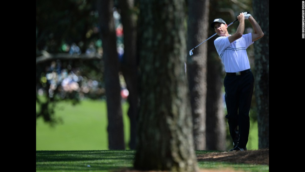 Jim Furyk of the United States plays during the third round.