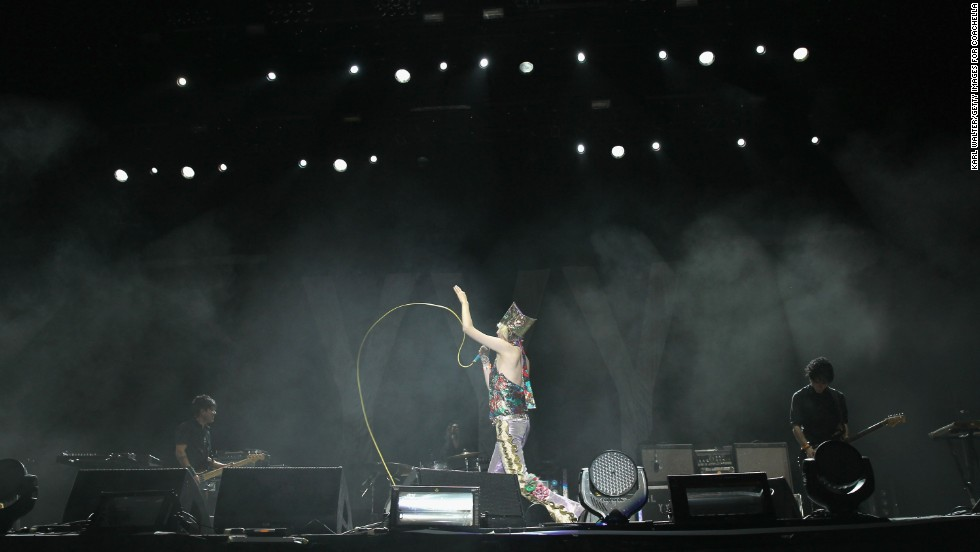 Karen O of the Yeah Yeah Yeahs performs on April 12.
