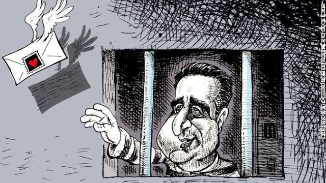 'Love Letters from Prison' - By Iranian-Canadian cartoonist Nikahang Kowsar.