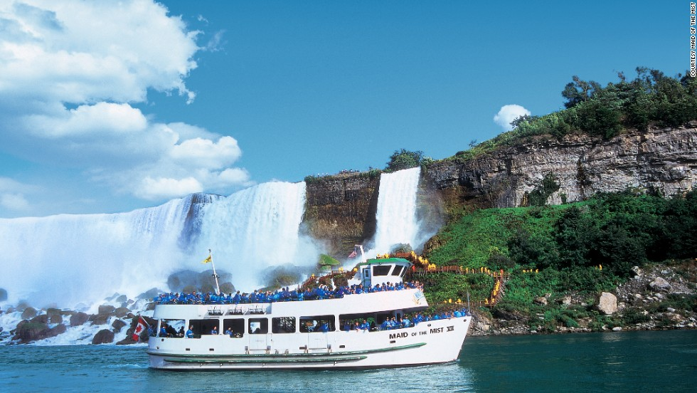 "<a href=""http://www.maidofthemist.com"" target=""_blank""><strong>Maid of the Mist, Niagara Falls, New York.</a></strong> These boat tours provide stunning views from the base of Niagara Falls. The 2013 season begins April 19."