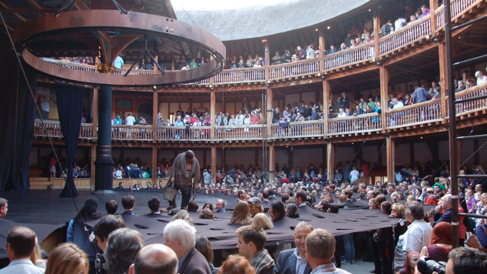 "<a href=""http://www.shakespearesglobe.com/exhibition?utm_source=hp&utm_medium=banner&utm_campaign=Exhibition_hp"" target=""_blank""><strong>Shakespeare's Globe Theatre, London, United Kingdom.<strong></a></strong> </strong>Guided tours of the open-air playhouse explain the workings of the faithfully reproduced Elizabethan theater. The original Globe was located close by."