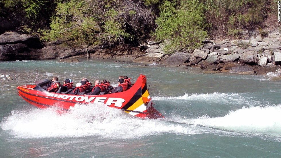 "<a href=""http://www.shotoverjet.com"" target=""_blank""><strong>Shotover Jet, Arthur's Point, New Zealand.<strong></a></strong> </strong>This jet-boat tour operates in the canyons of the Shotover River at speeds of up to 53 miles per hour in water as shallow as 4 inches deep."