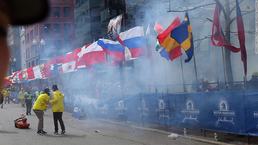 Boston Globe photographer John Tlumacki shot some of the most dramatic images during the bombings at the 2013 Boston Marathon.