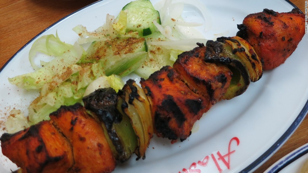 In Los Angeles' Little Bangladesh, Swadesh serves up tasty Tandoori chicken kebabs.