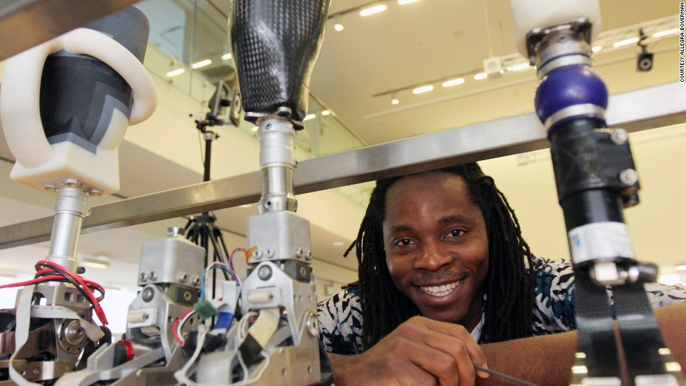 David Sengeh, 26, is a MIT MEDIA lab doctorate student working to enhance the lives of amputees by designing the perfect fit for every prosthetic socket.