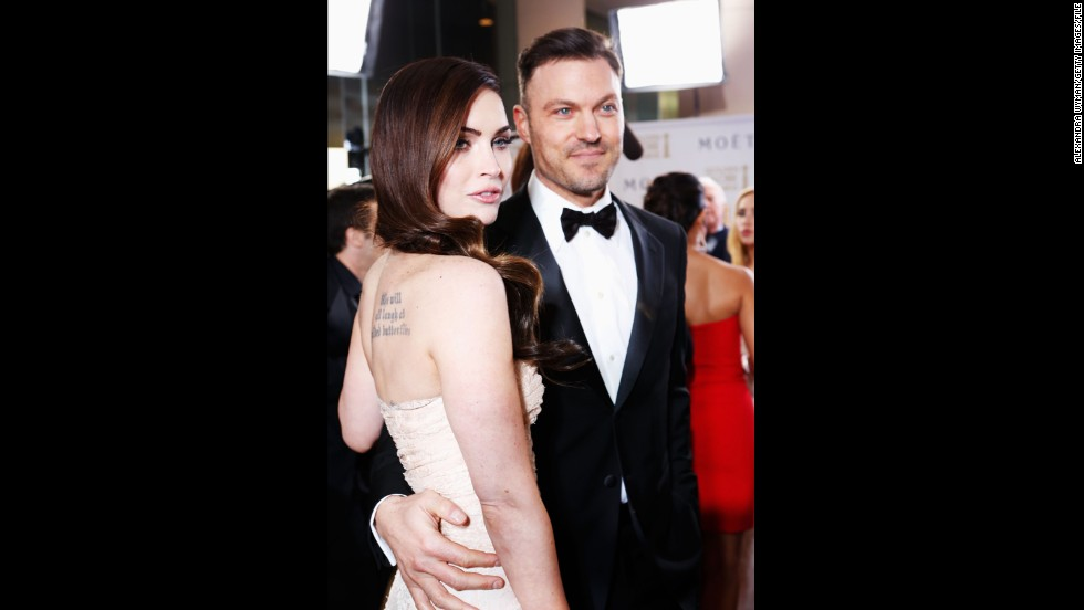"Megan Fox and Brian Austin Green were engaged in 2007 but <a href=""http://www.people.com/people/article/0,,20261194,00.html"" target=""_blank"">called it off two years later</a>. By June 2010, though, <a href=""http://www.cnn.com/2010/SHOWBIZ/celebrity.news.gossip/06/16/megan.fox.engaged/index.html?iref=allsearch"" target=""_blank"">the pair were engaged again</a> -- and just a few weeks away <a href=""http://www.usmagazine.com/celebrity-body/news/fox-green-wed-2010286"" target=""_blank"">from tying the knot.</a> However, the marriage didn't last: The two <a href=""http://www.cnn.com/videos/entertainment/2015/08/20/megan-fox-brian-austin-green-breakup-hollywood-minute-pkg.cnn"">announced their divorce in August</a>."