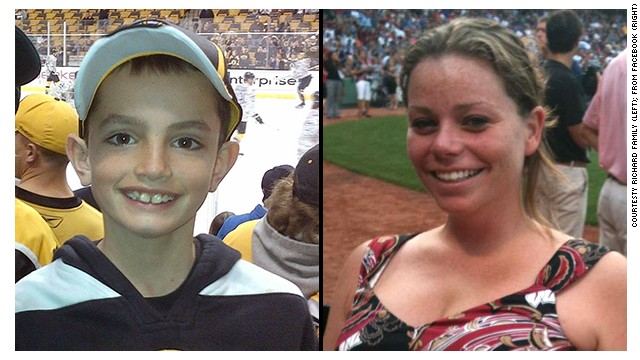 Martin Richard, left, and Krystle Campbell, right, were both killed in the Boston Marathon bombings.