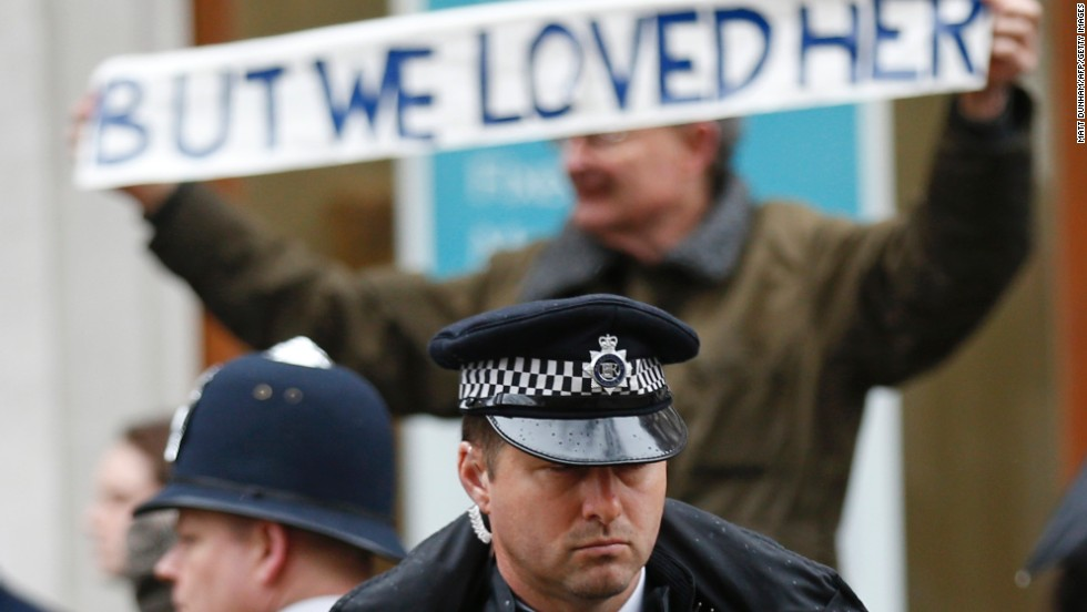 A British police officer stands guard. More than 4,000 officers were on duty for the event.