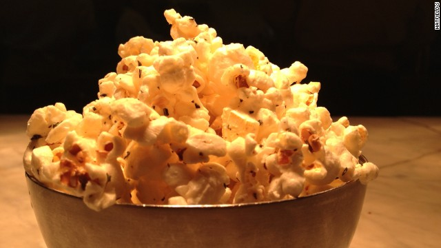 Rosemary popcorn from Hatfield's in Los Angeles
