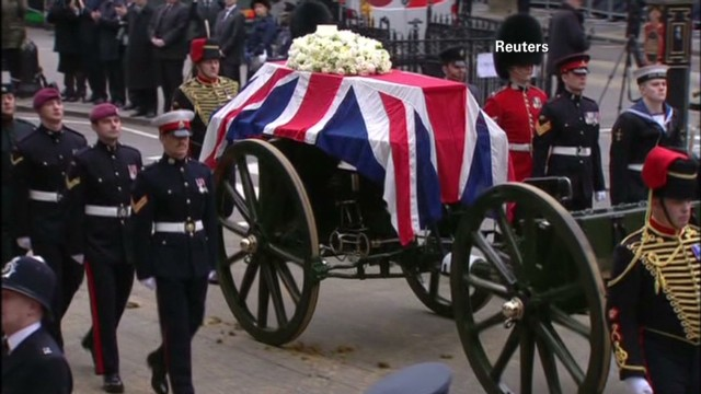 Ceremonial funeral for Margaret Thatcher