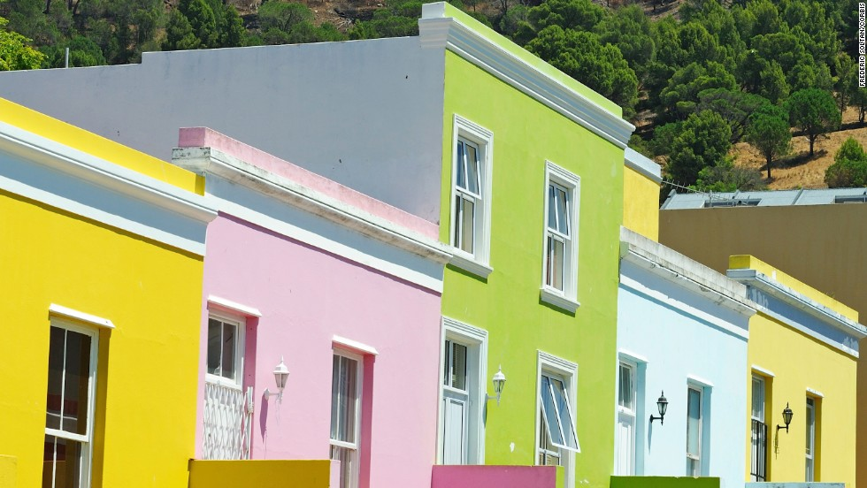 The Cape Malay community of Cape Town, South Africa, began painting their homes to celebrate the end of apartheid.