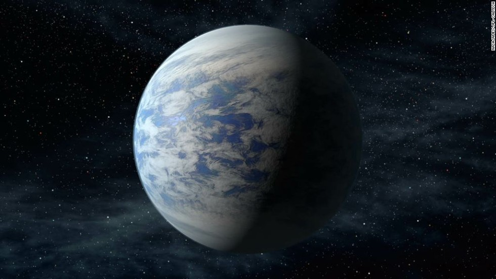 The planet Kepler-69c is located about 2,700 light-years from Earth in the constellation Cygnus. This is an illustration of the planet, which is the smallest yet found to orbit in the habitable zone of a sun-like star.