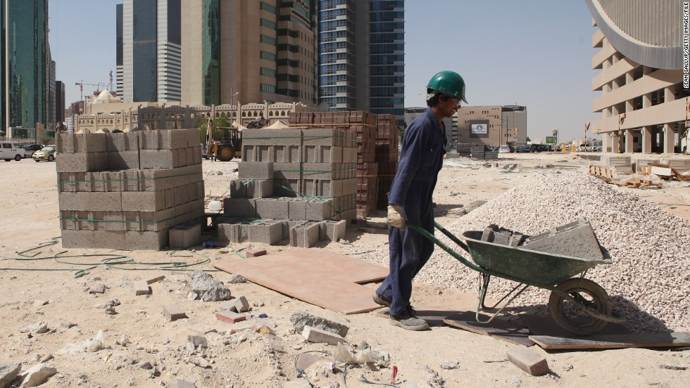 The ITUC points to Qatar's system of sponsorship which ties workers to employers and has been abused in the past. They also point to the high number of worker deaths and the conditions that many find themselves in. Temperatures on building sites in the summer months can hit 50 degree Celcius.