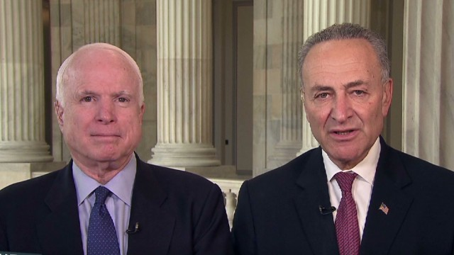 Lead John McCain Chuck Schumer immigration guns_00034406.jpg
