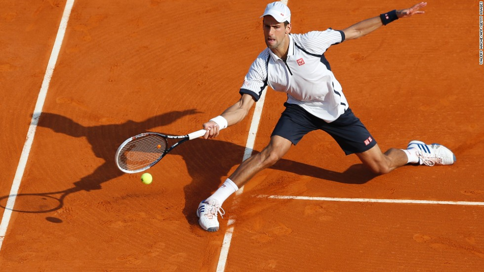 World No. 1 Novak Djokovic, beaten by Nadal in last year's final, was again forced to test his injured ankle as he came from behind to beat Argentina's clay specialist Juan Monaco in three sets.