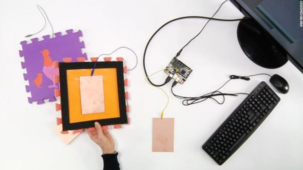 Users can plug sensors into the Arduino board, turning it into a controller for video games, like a much cheaper, homemade Wii Balance Board.