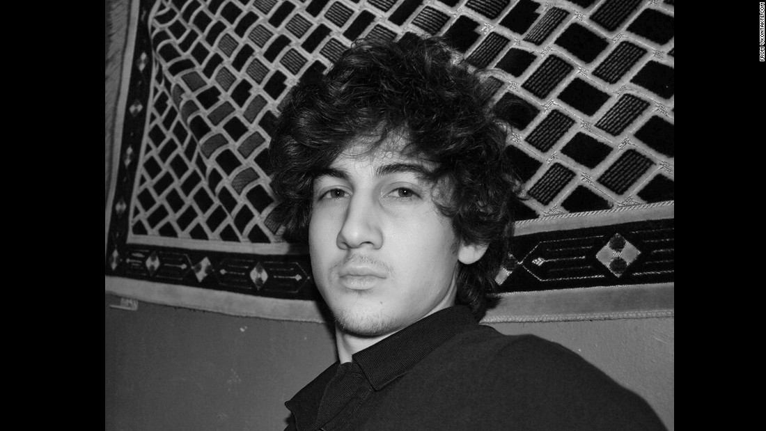 A picture of Tsarnaev from his apparent profile on VKontakte, a Russian social network similar to Facebook.