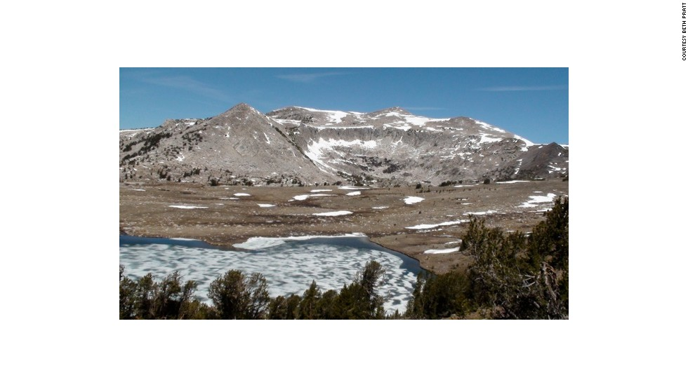 If you hike the 3/4 mile up the Gaylor Lakes trail in Yosemite National Park, your reward is an incredible view of middle Gaylor Lake.