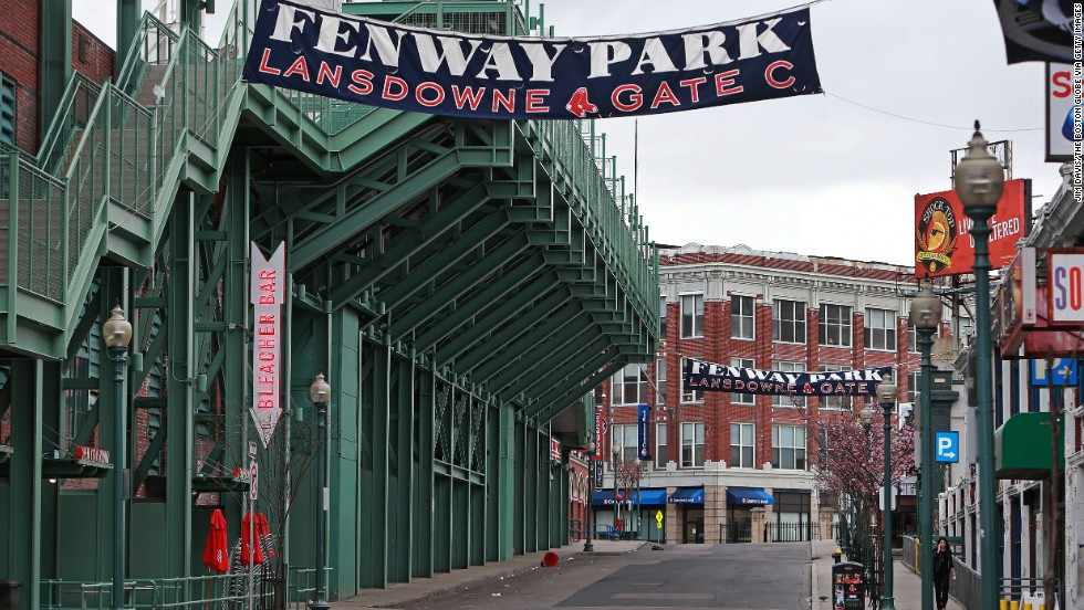 The Boston Red Sox postponed a baseball game because of the manhunt.