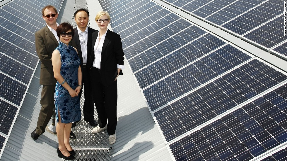 In 2010, the Sydney Theatre Company in Australia switched on solar panels on the rooftop of its historic home, The Wharf theater. Sustainability is part of the vision of the theater's artistic directors, actress Cate Blanchett and her husband, Andrew Upton.