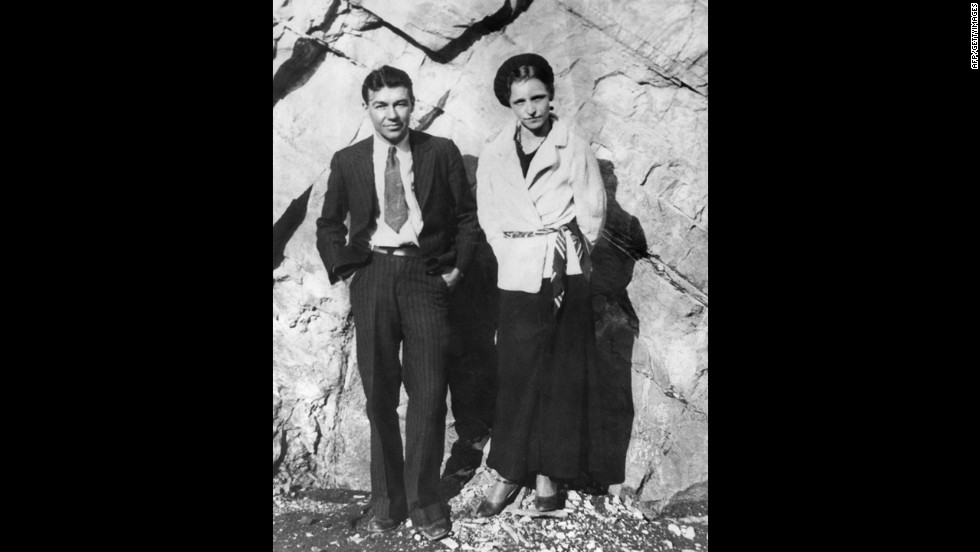 Lovebird bandits Bonnie Parker and Clyde Barrow are believed to have committed 13 murders and several robberies and burglaries before they were ambushed and killed by police in 1934.