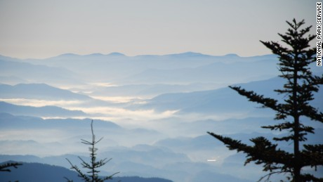 The views in Great Smoky Mountains National Park, located in both North Carolina and Tennessee, are spectactular.