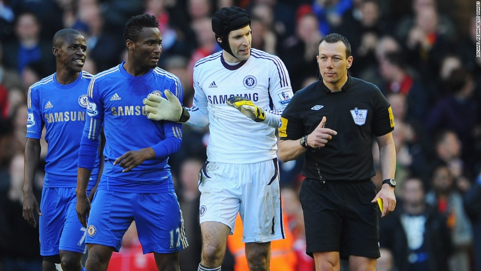 The Chelsea players were furious that Suarez was still on the pitch after his bite on Ivanovic.