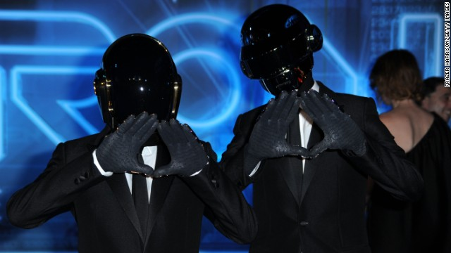 Daft Punk arrives at Walt Disney's 'TRON: Legacy' World Premiere held on December 11, 2010 in Los Angeles, California.
