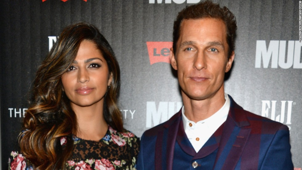 "Camila Alves and Matthew McConaughey attend a screening of ""Mud"" in New York City."