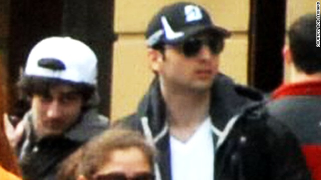 Newly released photos of bombing suspects Dzhokhar Tsarnaev, left, and his older brother Tamerlan Tsarnaev, right.