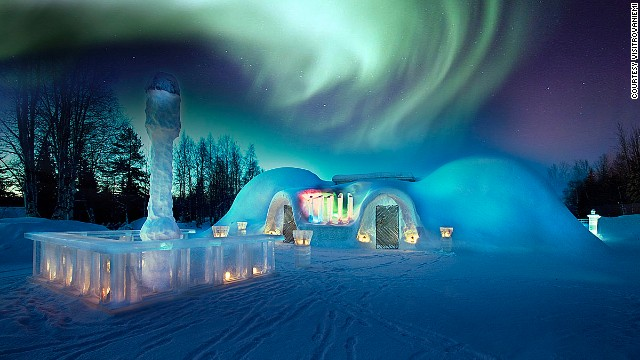 Since most of Lapland is situated within the Arctic Circle, it's an ideal spot to watch the northern lights.