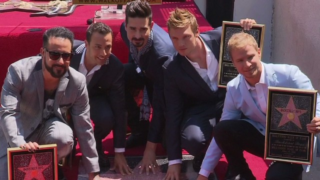 The Backstreet Boys had their star unveiled on the Hollywood Walk of Fame in Los Angeles. Shot March 23, 2013.