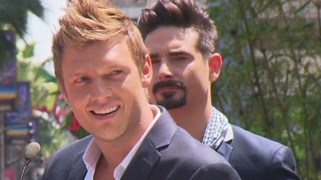 Nick Carter at a ceremony where the Backstreet Boys had a star unveiled in their honor on the Hollywood Walk of Fame in Los Angeles. Shot March 22, 2013.
