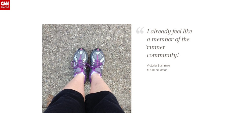 Victoria Bushmire, a 29-year-old in Pittsburgh, says runners all over the world feel Boston's pain.
