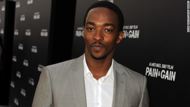 Actor Anthony Mackie arrives at the premiere of Paramount Pictures' 'Pain & Gain' on April 22, 2013 in Hollywood, California.