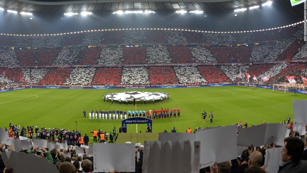Bayern's Allianz Arena hosted last year's Champions League final where the German side suffered a heartbreaking penalty shootout defeat to Chelsea.