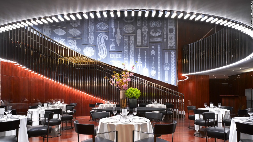 The decor in London's newest fashion-branded hotel is inspired by Bulgari's silversmith roots.