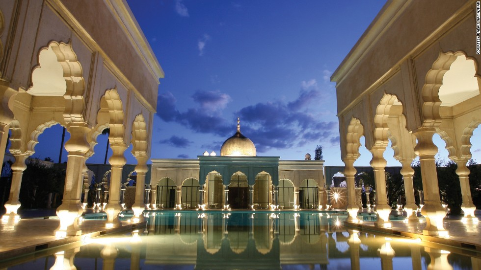 The 2013 take on a hotel pool, this Moorish-inspired Makarrech hotel has 41 villas and suites.